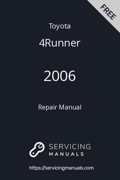 2006 Toyota 4Runner Repair Manual Image
